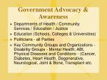 government advocacy awareness