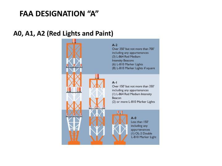 """FAA DESIGNATION """"A"""""""