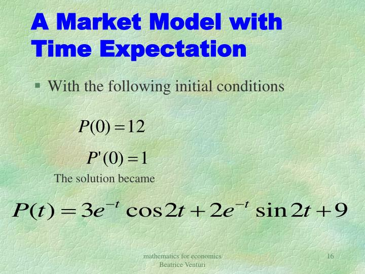 A Market Model with Time Expectation