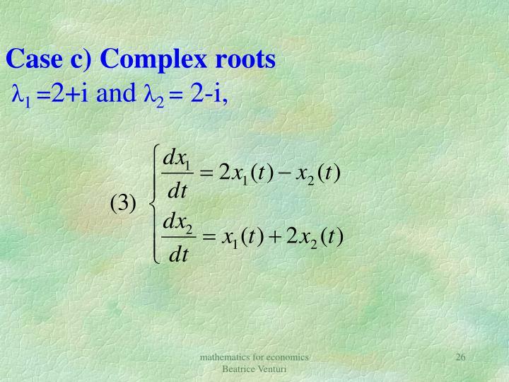 Case c) Complex roots