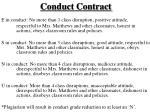 conduct contract