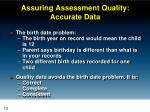 assuring assessment quality accurate data