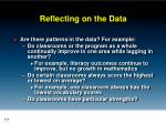 reflecting on the data