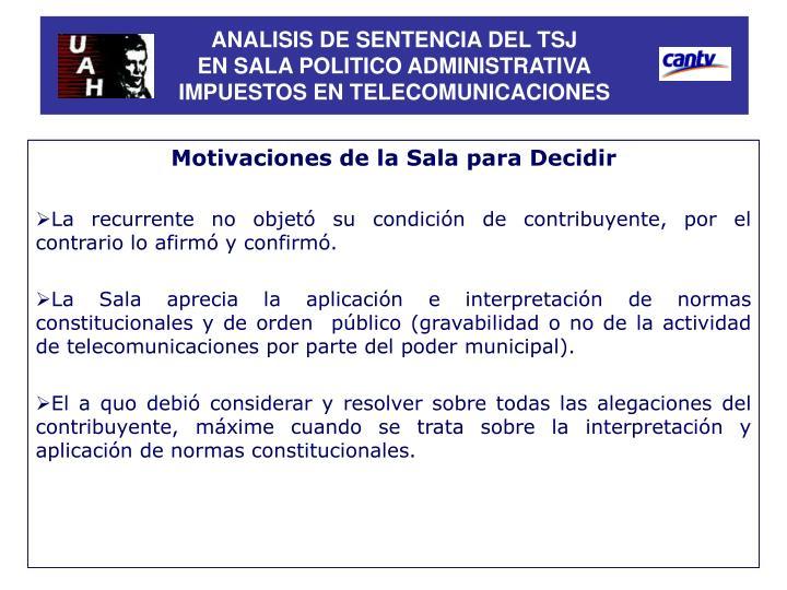 ANALISIS DE SENTENCIA DEL TSJ