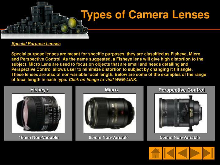 Special Purpose Lenses