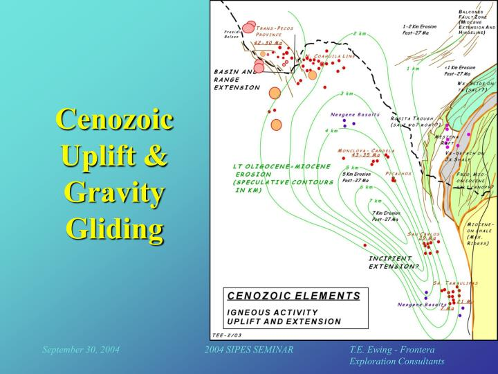 Cenozoic Uplift & Gravity Gliding
