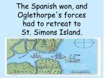 the spanish won and oglethorpe s forces had to retreat to st simons island