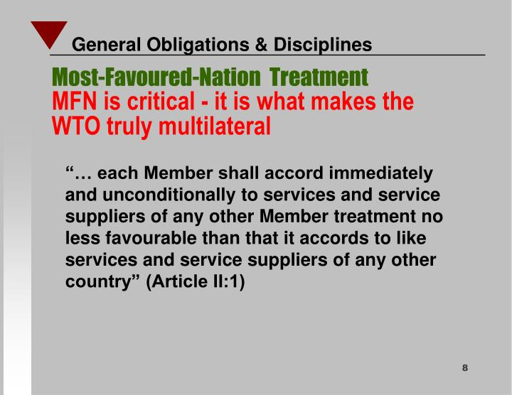 Most-Favoured-Nation  Treatment