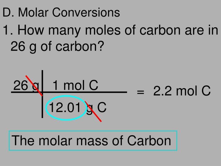 D. Molar Conversions