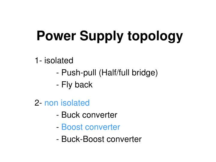 Power supply topology