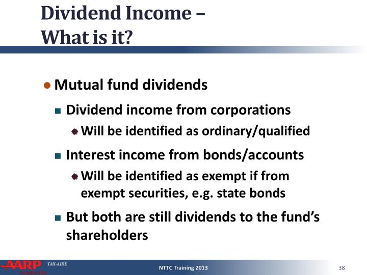 Dividend Income –