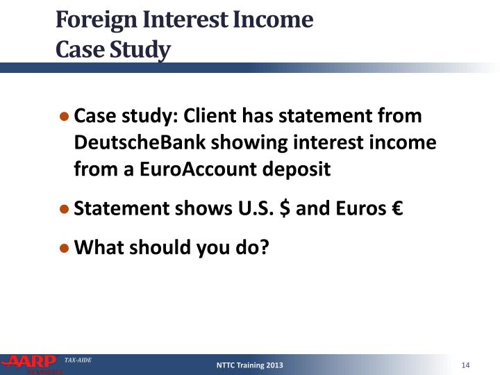 Foreign Interest Income