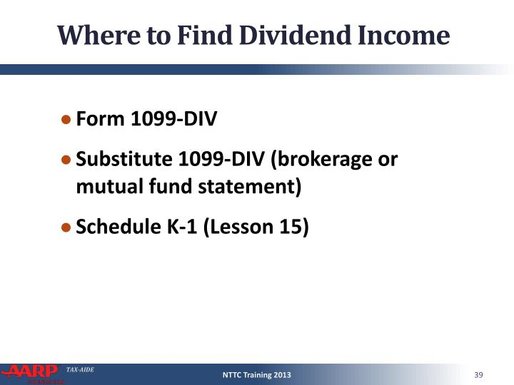 Where to Find Dividend Income