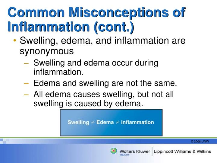 Common Misconceptions of Inflammation (cont.)
