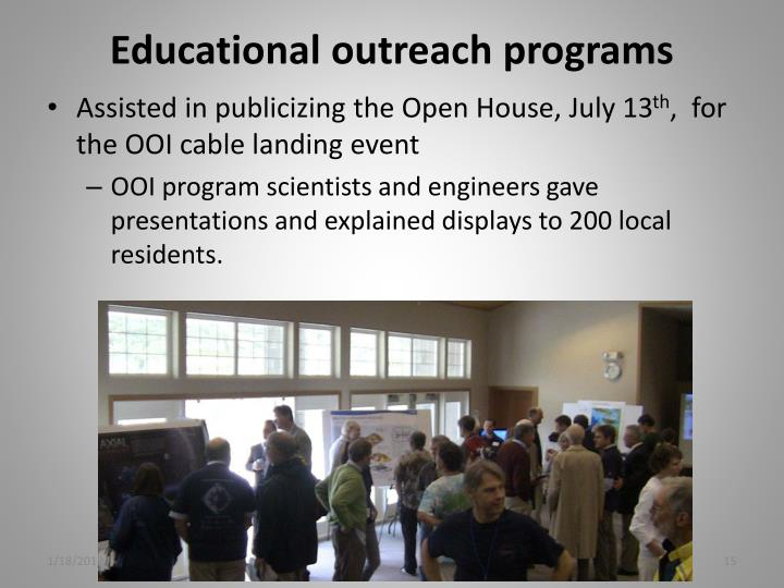Educational outreach programs