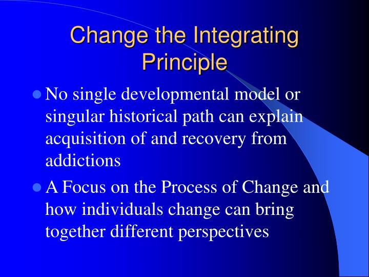 Change the Integrating Principle