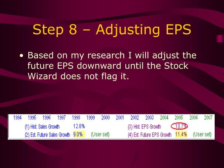 Step 8 – Adjusting EPS