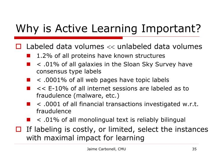 Why is Active Learning Important?