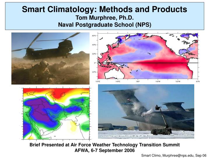 Smart Climatology: Methods and Products