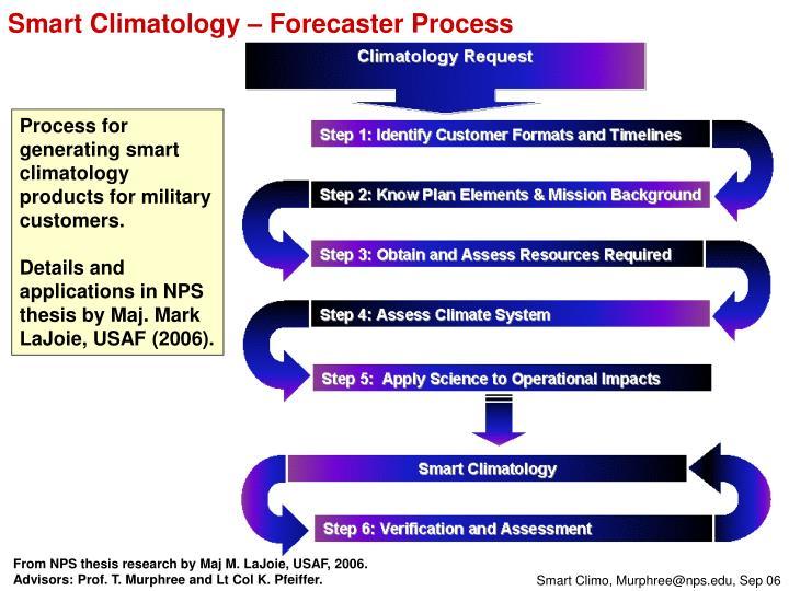 Smart Climatology – Forecaster Process