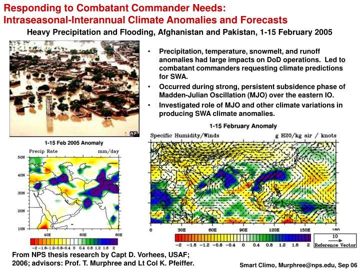 Responding to Combatant Commander Needs: