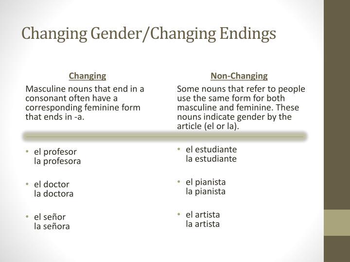 Changing Gender/Changing Endings