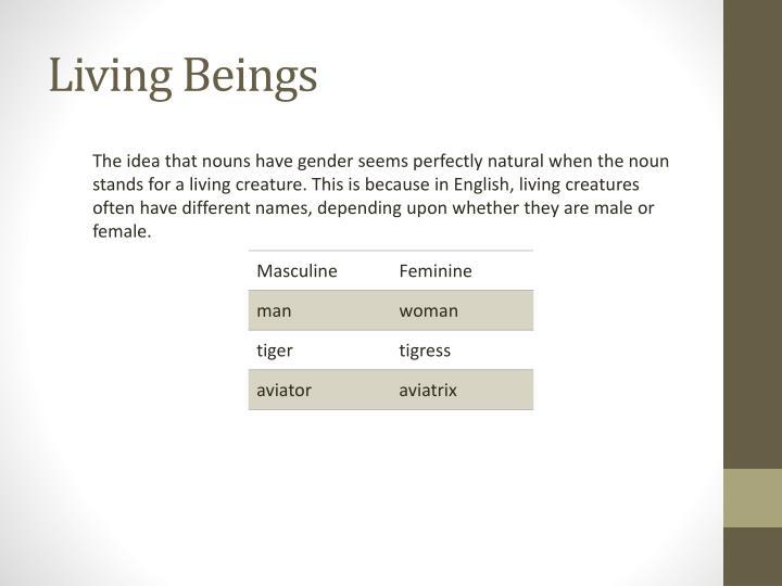 Living Beings
