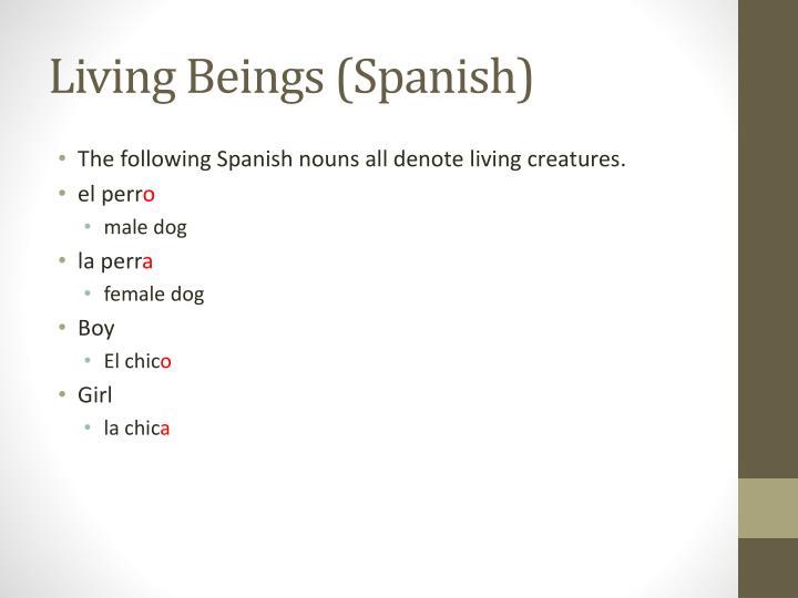 Living Beings (Spanish)