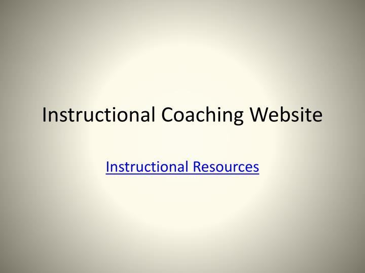 Instructional Coaching Website