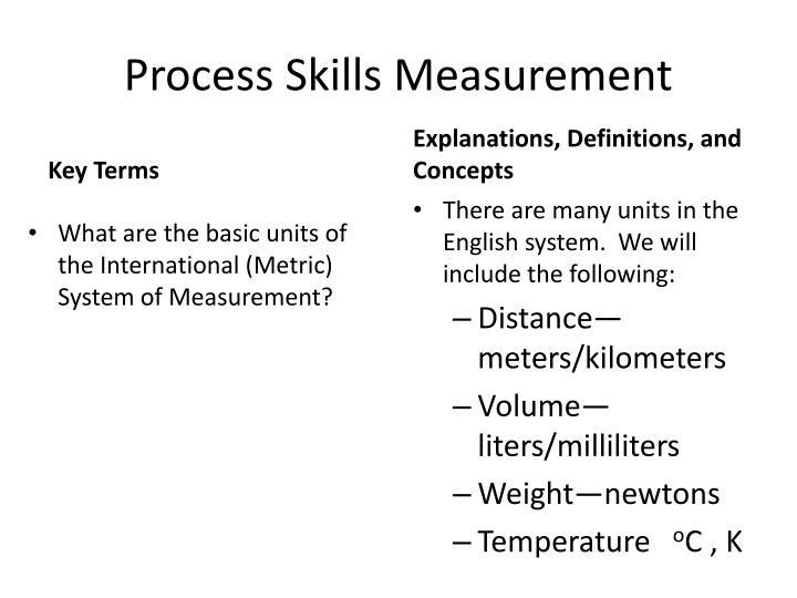 Process Skills Measurement