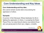 core understanding and key ideas1