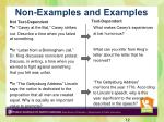 non examples and examples