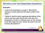 structure and text dependent questions1