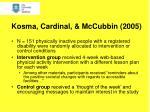 kosma cardinal mccubbin 2005
