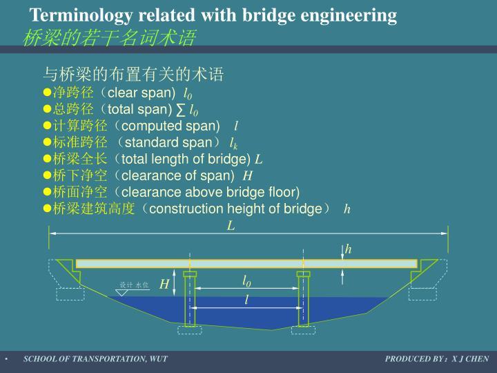 Terminology related with bridge engineering