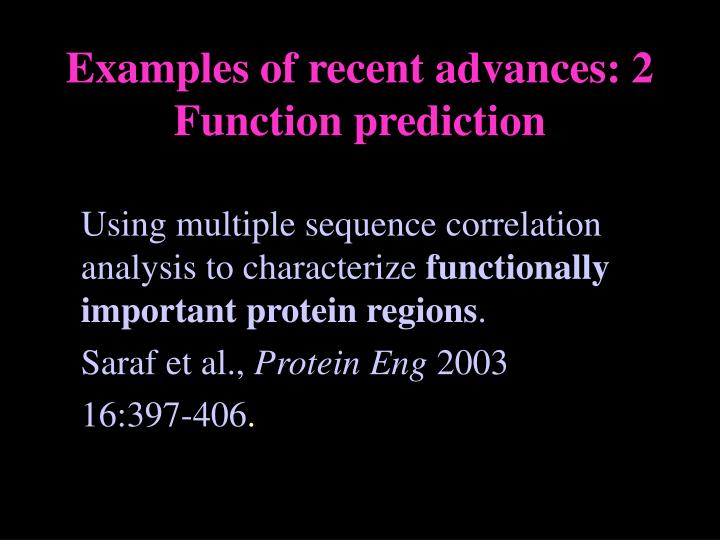 Using multiple sequence correlation analysis to characterize