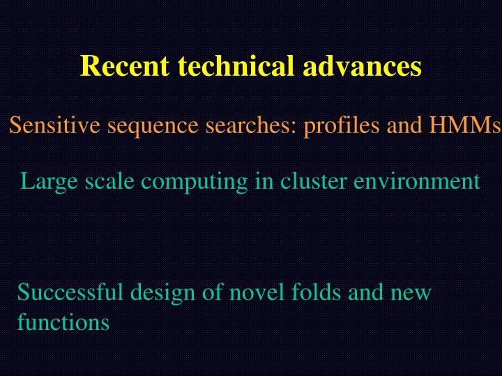 Recent technical advances