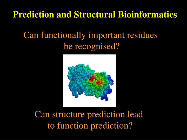 Prediction and Structural Bioinformatics