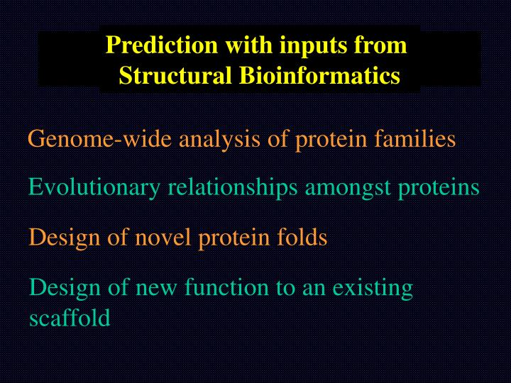 Prediction with inputs from