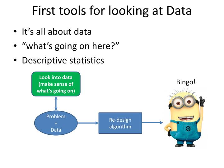 First tools for looking at Data