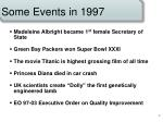 some events in 1997