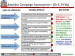 baseline campaign assessment d 3 9 feb