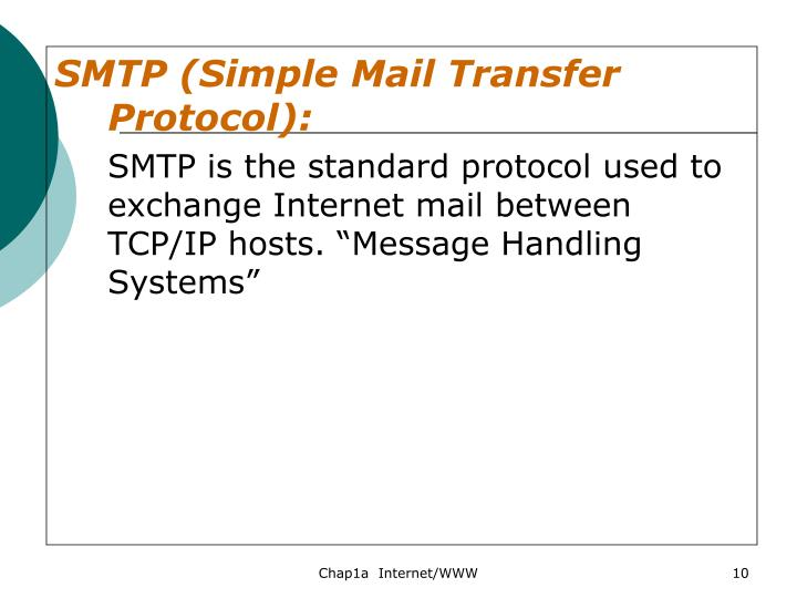 SMTP (Simple Mail Transfer Protocol):