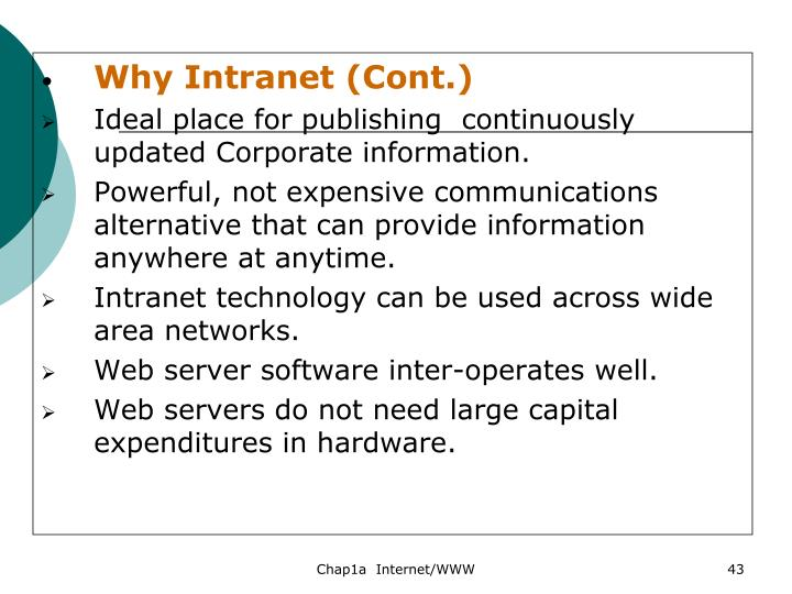 Why Intranet (Cont.)