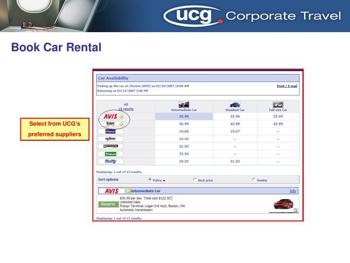 Book Car Rental