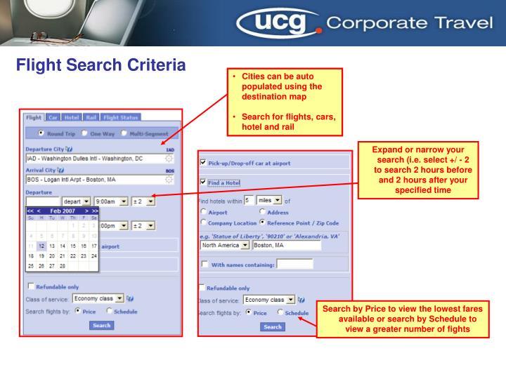 Flight Search Criteria