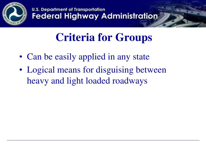 Criteria for Groups