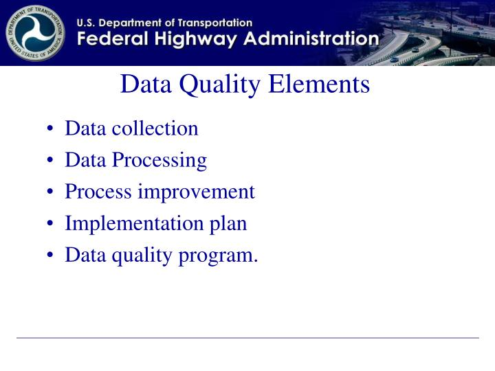 Data Quality Elements