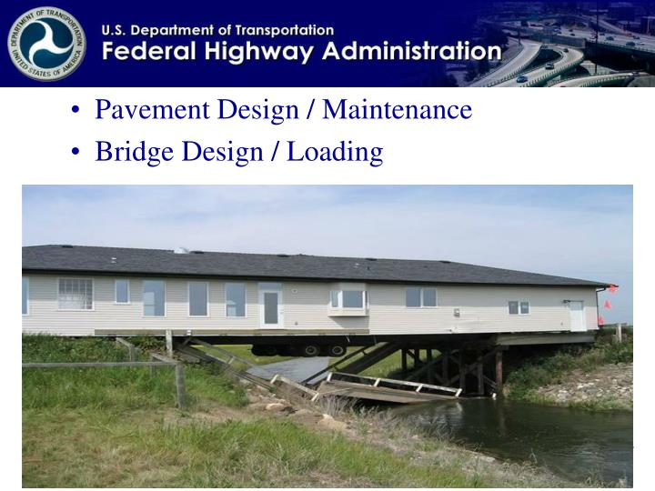 Pavement Design / Maintenance
