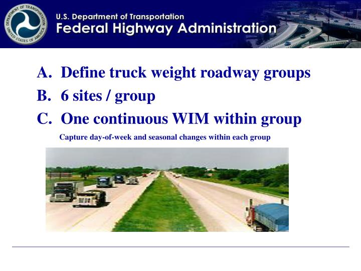 Define truck weight roadway groups